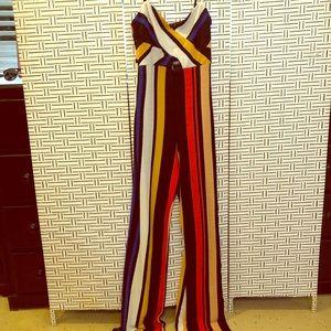 Striped pant juimpsuit